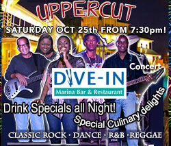 Uppercut Band October concert at the Dive In @ Unexso is Oct. 25th