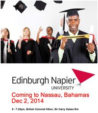 Edinburgh Napier University is coming to The Bahamas!