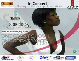Debut concert for 16 yr-old Super Talent of the Bahamas winner, February 8th