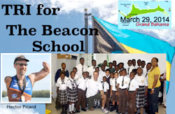 American para-triathlete, Hector Picard to host Triathlon for The Beacon School