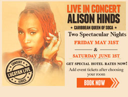 Caribbean Queen of Soca: ALISON HINDS Birthday Bash tickets and discounted Room rates @ Grand Lucayan