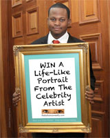 Contest: WIN a portrait drawing with The Celebrity Artist!