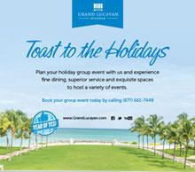 Grand Lucayan Bahamas Toast to the Holidays