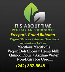 """It's About Time: Vegetarian Food Store"" in Grand Bahama"