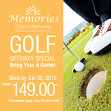 Memories Resort Grand Bahama  June Golf Package