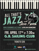 """All That's Jazz"" with Steve Koven at Sailing Club, April 17"