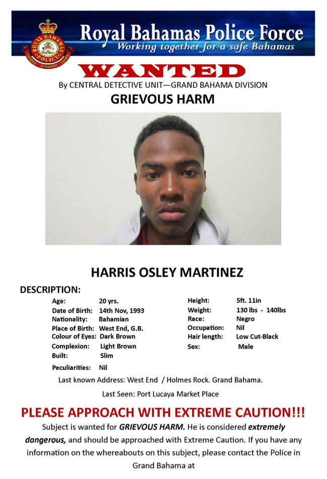 thebahamasweekly.com - RBPF Wanted in Grand Bahama: Harris Osley ...