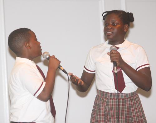 Gospel duet freeport primary school ralph hepburn and natania hall