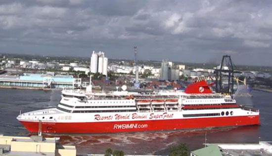 Thebahamasweeklycom Bimini SuperFast Begins Ft Lauderdale Service - Bimini superfast cruise ship