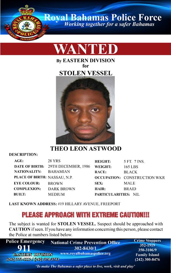 thebahamasweekly.com - RBPF Wanted: Theo Leon Astwood of Grand Bahama