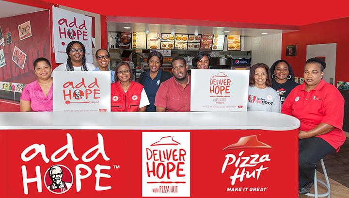 thebahamasweekly com - KFC & Pizza Hut partner with GB Red
