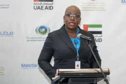 Dr_Gale_T_Rigobert_addresses_the_launch_of_the_second_funding_cycle_of_the_UAE-Caribbean_Renewable_Energy_Fund_1.jpg