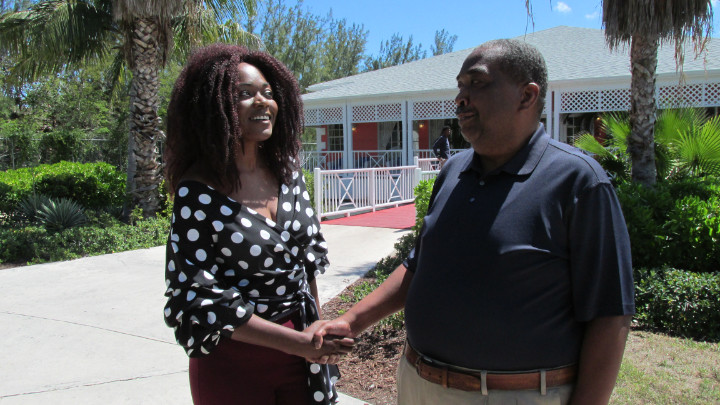 Radio_host_Shenique_Miller_with_Vernon_Moss_GM_Sandyport_Beach_Resort_IMG_1004.jpg
