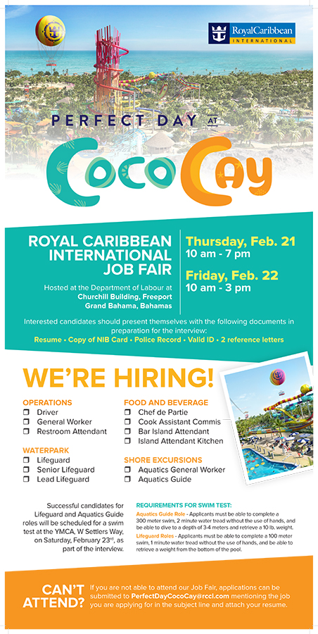 thebahamasweekly com - Royal Caribbean International Job Fair in