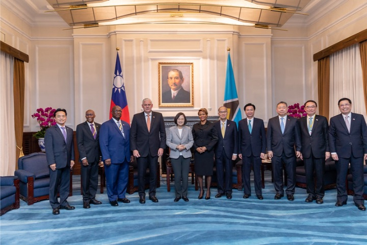Saint_Lucian_contingent_in_Taiwan-PM_and_President_Tsai.jpg