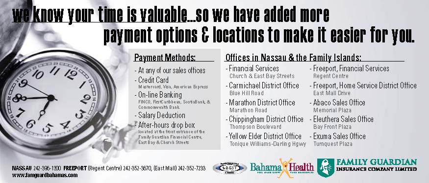 thebahamasweekly com - Family Guardian Payment Options and Locations