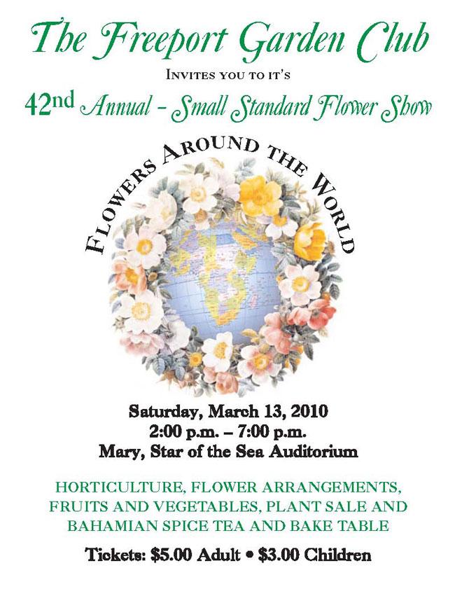 Freeport Garden Club Flyer jpg. thebahamasweekly com   42nd Annual Small Standard Flower Show