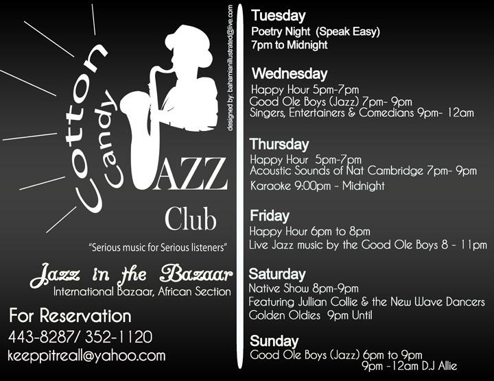 thebahamasweekly com - Cotton Candy Jazz Club - Now Open in the Bazaar