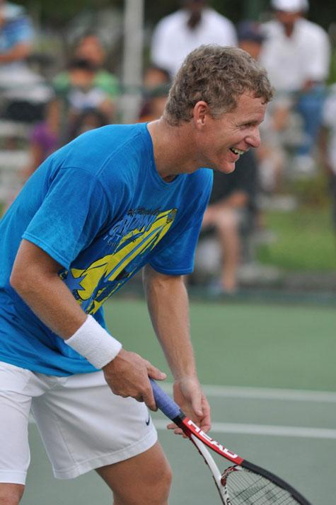 Bahamian tennis pro Mark Knowles at his Celebrity Tennis Invitational in 2009. Photo: Ash Henderson