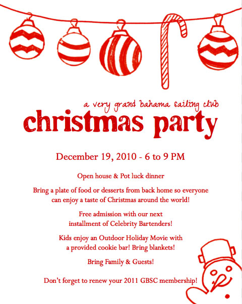 thebahamasweekly A Very Grand Bahama Sailing Club Christmas – Sample Christmas Party Invitation Letter